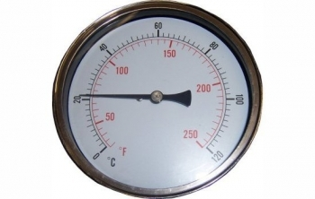 100mm Temperature Gauge 0-120C Pocket Back Entry