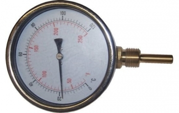 100mm Temperature Gauge 0-120C Pocket Bottom Entry