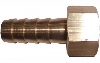Brass Female Nut/Tail Hex Type