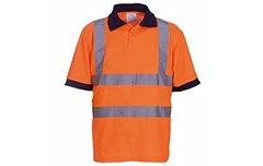 Hi-Vis Short Sleeve Polo Shirt (Yellow & Orange)