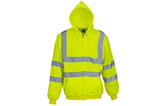 Hi-Vis Zip Hoodie (Yellow & Orange)