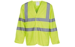 Hi-Vis Long Sleeve Waistcoat (Yellow & Orange)