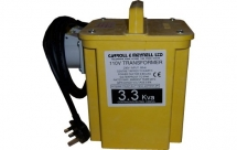 Twin Outlet Transformer 3.3KVA Two 110v 16A Output Sockets