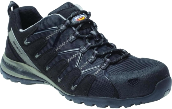 FC23530 Dickies Tiber Safety Trainer, Black, S3, Size 08