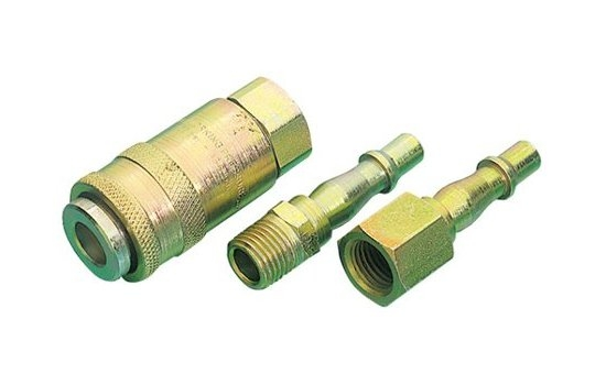Draper Air PCL Fitting 3PC Coupling Set 1/4BSP