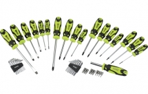 Draper 78619 Screwdriver, Hex Key & Bit Set (Green) 44pc