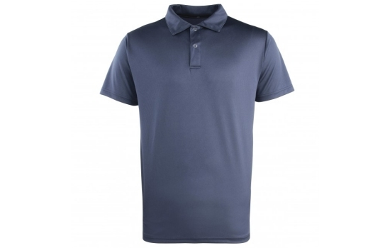 Premier PR612 CoolChecker Poly.Stud Placket Navy X/Small
