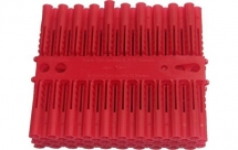ForgeFix Plastic Wall Plugs Red No.6-8 (Box of 100)