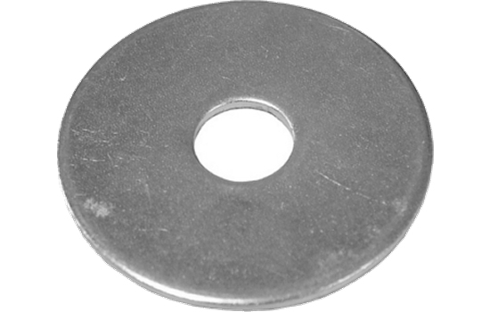 BZP Mudguard Washer 6 x 25mm 1.50mm Thick