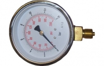 63mm St/St Pressure Gauge 0-11Bar+PSI 1/4BSP Bottom