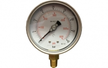 100mm Pressure Gauge 0-40bar St.St cased 3/8BSP Bottom