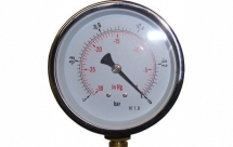 100mm Vacuum Gauge 0-30HG 1Bar Black Case 3/8BSP Bottom
