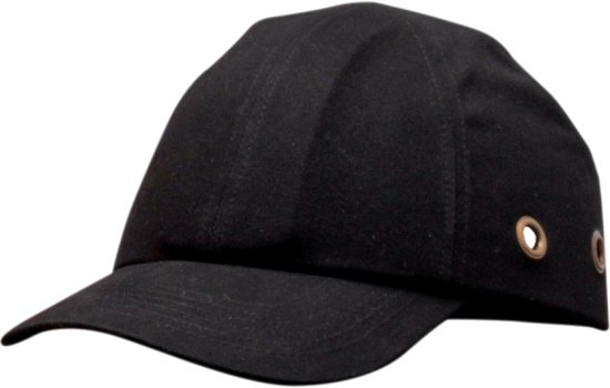 PW59 Cotton Bump Cap Black ABS shell with EVA pad