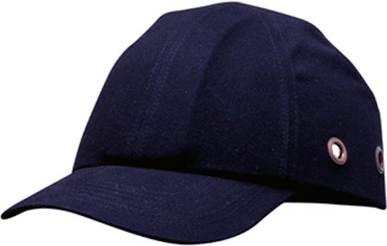 PW59 Cotton Bump Cap Navy ABS shell with EVA pad