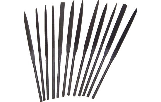 Linear Needle File Set 1 (12 Files In Wallet)