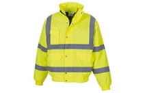 YK043 Hi-Vis Classic Bomber Jacket Yellow Small