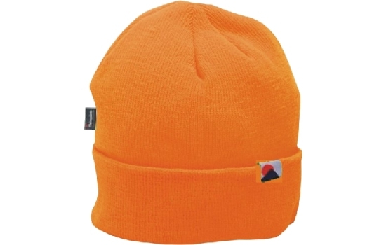Insulated Knitted Beanie B013 Hi-Vis Orange