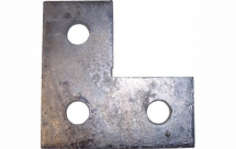 Flat L Bracket 3 Hole 86mm x 86mm GB06