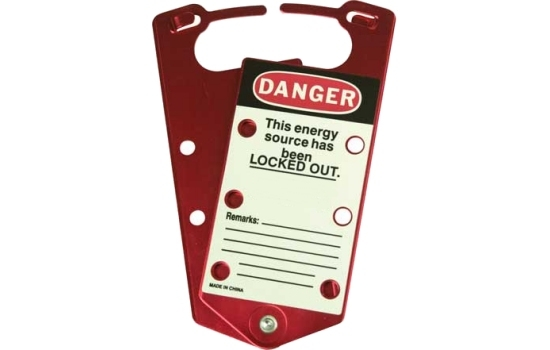 Brady Aluminium Hasp Label Safety Lockout