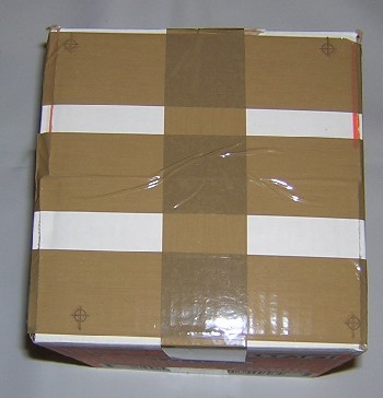 parcel tape wrapped around a small package